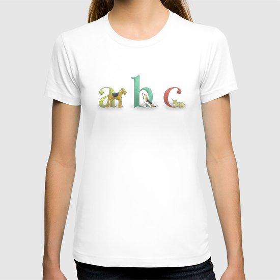 alphabet dogs T-shirt