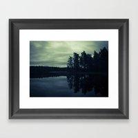 Lake By Night Framed Art Print