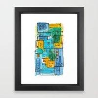 Blues Street Framed Art Print