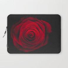 Red rose on black background vintage effect Laptop Sleeve