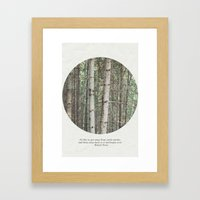 robert frost's birch trees Framed Art Print