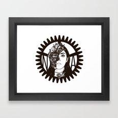 Steampunk Lady Framed Art Print