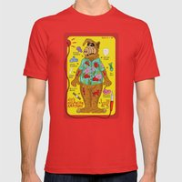 Alf's Melmacian Anatomy Mens Fitted Tee Red SMALL