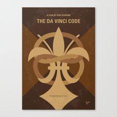 No548 My Da Vinci Code minimal movie poster Canvas Print