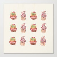 cake pattern Canvas Print