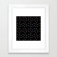 Zazzy Triangles Framed Art Print