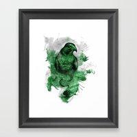 Eagle- Green Framed Art Print