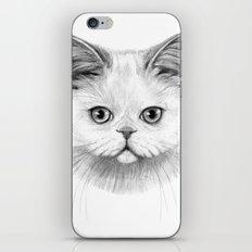 White Cat portrait G130 iPhone & iPod Skin