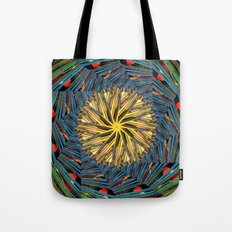 mandala circle lines Tote Bag