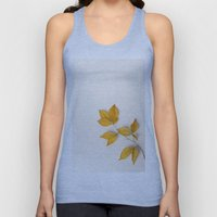 Yellow Beech Leaves Unisex Tank Top
