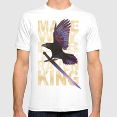 The Messenger/ Raven Cycle Mens Fitted Tee White SMALL