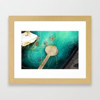 Fishing nets Framed Art Print