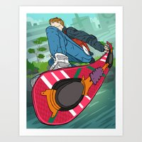 Marty Mc Fly Art Print