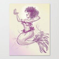 Mermaid Dime Canvas Print