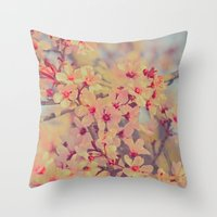 Vintage Blossoms - In Me… Throw Pillow