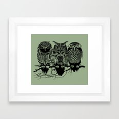 Owls of the Nile Framed Art Print