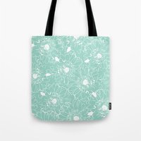Duck Egg Flowers Tote Bag