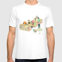eating at johnny´s Mens Fitted Tee White SMALL