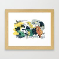 Animals In Nature Framed Art Print