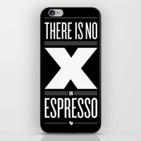 No X in Espresso – Dark Grey iPhone & iPod Skin