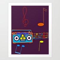 Radio Active musical waves Art Print