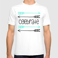Celebrate Mens Fitted Tee White SMALL