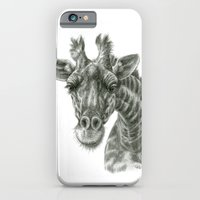 iPhone & iPod Case featuring The giraffe G2012-049 by S-Schukina