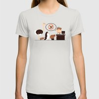 The No-Fly List Womens Fitted Tee Silver SMALL
