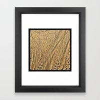 Tire tracks in the sand. Framed Art Print