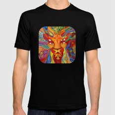 Lion's Visions Mens Fitted Tee Black SMALL