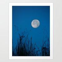 Faded Moon Art Print
