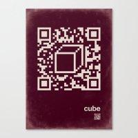 QR cube Canvas Print