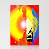 Sunset ship Stationery Cards