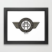 Motorcycle dudes tshirt Framed Art Print