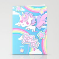 Happy Unicorn Stationery Cards