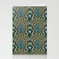 Slithering Snake Ikat Stationery Cards