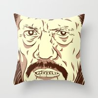 Don't fuck with the wrong mexican Throw Pillow