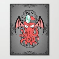 The Call Of Zoidbergthulhu Canvas Print