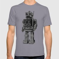 Vintage Robot Mens Fitted Tee Slate SMALL