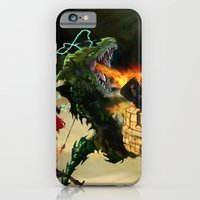 Dragon Burns Castle iPhone 6 Slim Case