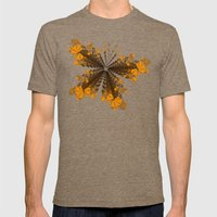 Heart - Orange Mens Fitted Tee Tri-Coffee SMALL