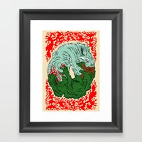 Beast Feast Framed Art Print