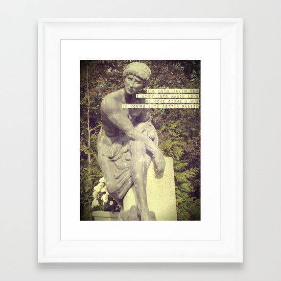 Find Me in the Club Framed Art Print