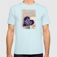 Love is Sweet  - JUSTART © Mens Fitted Tee Light Blue SMALL