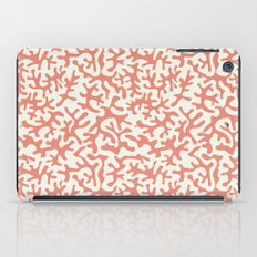 coral pink coral pattern iPad Case