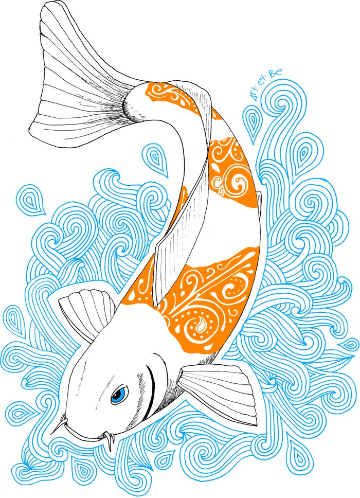 Koi fish art print by art be society6 for Koi fish paintings prints