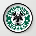 Starburns Coffee Wall Clock