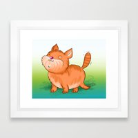 Happy Cat Framed Art Print