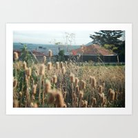Autumn Weed Art Print