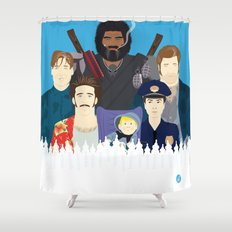 Finding Junior (Faces & Movies) Shower Curtain